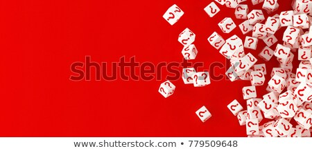 Red cubes with question mark Stock photo © Oakozhan