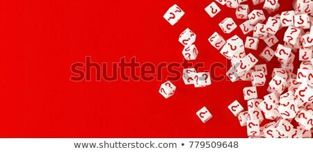 質問 · サイコロ · シンボル · サポート · 赤 - ストックフォト © oakozhan