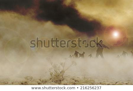 Korkutucu zombi çöl örnek yürüyüş bıçak Stok fotoğraf © bluering