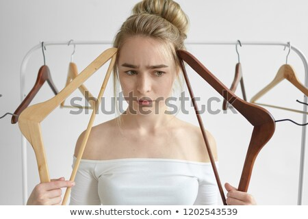 girl has opened wardrobe Stock photo © ssuaphoto