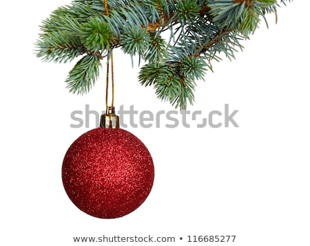 Colorful border of Christmas tree ornaments Stock photo © ozgur