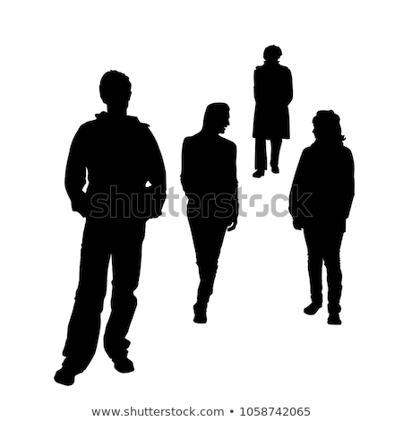 Four couples of people at different ages Stock photo © bluering