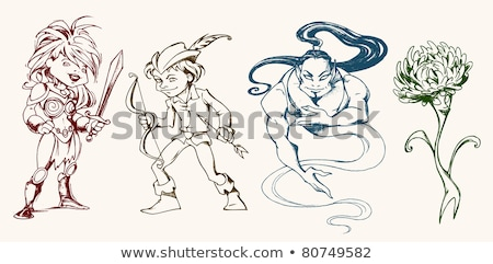 imaginary warrior woman with sword stock photo © ankarb