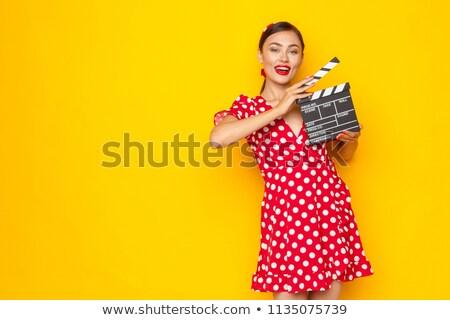 pin up girl director stock photo © lenm