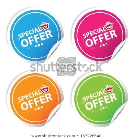 coloré · réduction · étiquettes · vente · différent - photo stock © orson