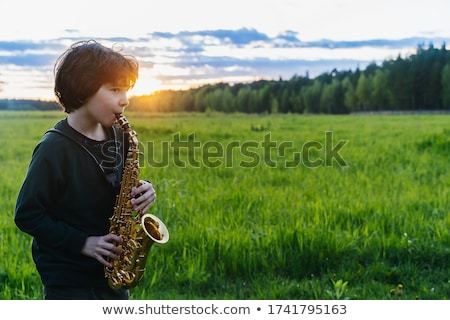 Man plays the saxophone Stock photo © adrenalina
