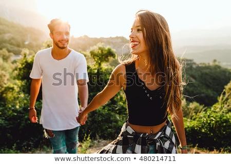 Boldog mosolyog pár szeretet fiatal gyönyörű Stock fotó © Yatsenko