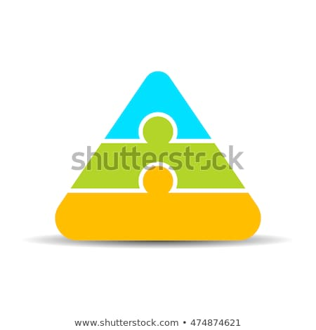 three color puzzle pyramid stock photo © oakozhan