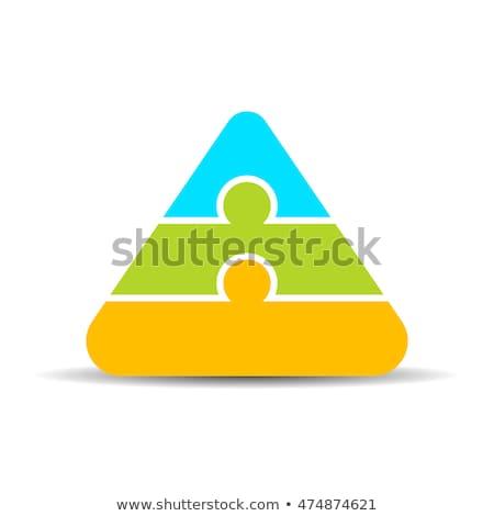 Three color puzzle pyramid Stock photo © Oakozhan