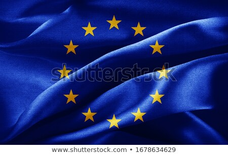 euro symbol and european union flag - 3d illustration Stock photo © drizzd