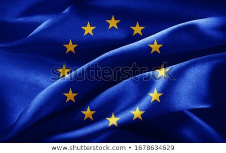 euro symbol and european union flag - 3d illustration Stock photo © drizzd