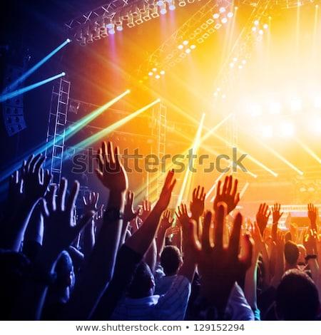 Music concert crowd, people enjoying live rock performance Stock photo © stevanovicigor