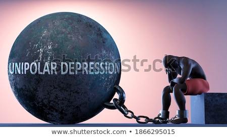 Ball And Chain Dark Stock photo © albund