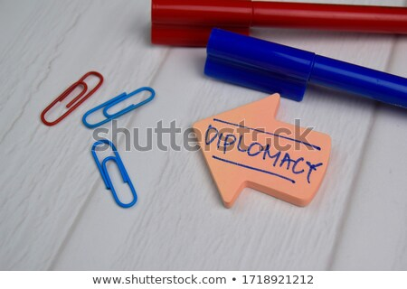 agreement handshake concept memo post Stock photo © alexmillos