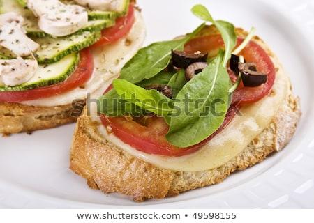 mozzarela tomato canape stock photo © digifoodstock