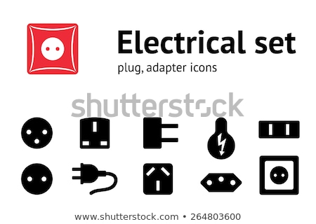 Israel electrical socket icon Stock photo © angelp