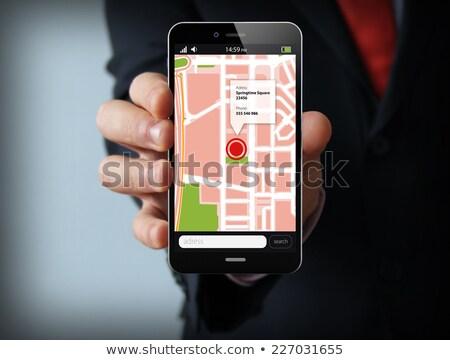 lock location on a mobile gps app Stock photo © alexmillos