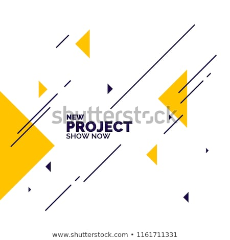 Flat bright yellow abstract triangle shape background Stock photo © igor_shmel