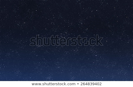 Stock photo: Blue dark night sky with stars