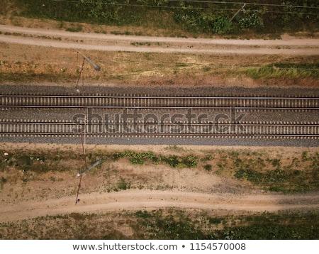 Chemin de fer suivre campagne haut vue Photo stock © stevanovicigor