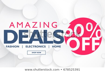 modern slae voucher or banner design with offer and deals detail Stock photo © SArts