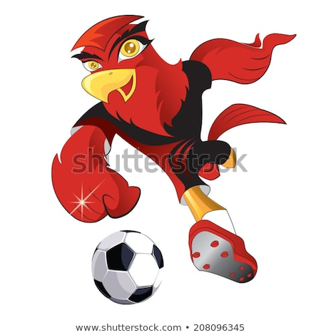 Foto stock: águila · fútbol · fútbol · mascota · enojado · animales