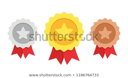 1st winner golden label vector template stock photo © SArts