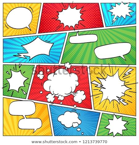 Comic Book Explosion, Clouds And Smoke Set Stock photo © benchart