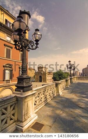 Lamp in the Arcades of Bologna Emilia Romagna Italy Stock photo © user_9870494