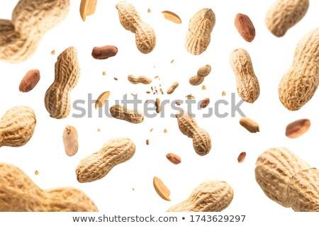 Amendoins manteiga de amendoim cremoso branco bandeja mostrar Foto stock © klsbear