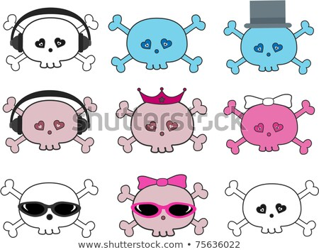 skull and crossbones with sunglusses stock photo © biv