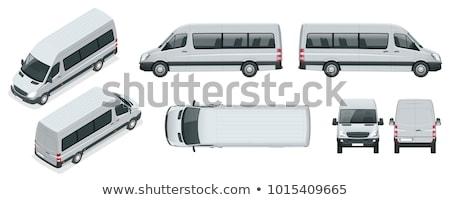 Isometrische minibus auto vrachtwagen Stockfoto © Genestro
