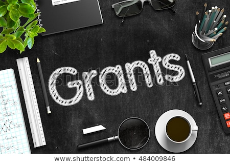 Grants Handwritten on Black Chalkboard. 3D Rendering. Stock photo © tashatuvango