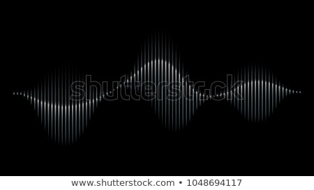 graphic musical equalizer sound waves on a black background stock photo © m_pavlov