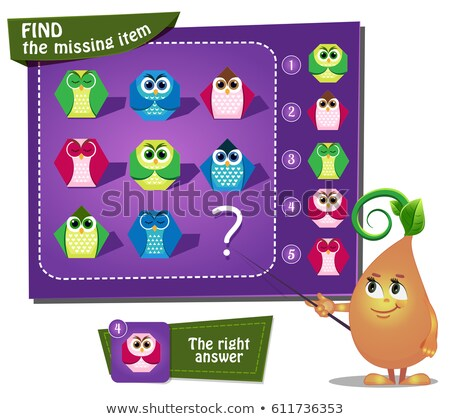 Find the missing owl geometric Stock photo © Olena