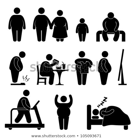 Icon of overweight silhouette Stock photo © Olena