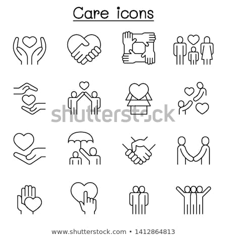 parental care line icon stock photo © rastudio