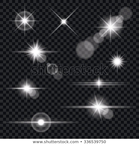 Realistic vector lens flare light effect on transparent background. Stock photo © articular