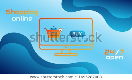 ecommerce · icono · naranja · botón · tecnología · signo - foto stock © tashatuvango