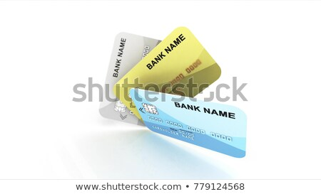 Mockup of business cards fan stack. 3D Stock photo © user_11870380