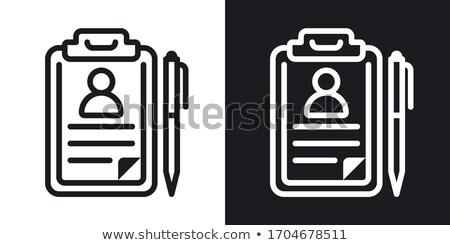 Rekordy folderze obraz biuro napis pracy Zdjęcia stock © tashatuvango