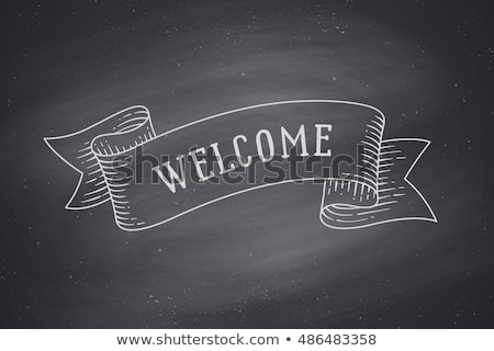 Welcome - Hand Drawn on Green Chalkboard. Stock photo © tashatuvango