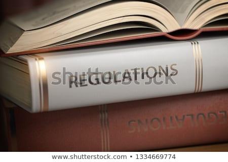 Süreç güvenlik iş kitap başlık 3D Stok fotoğraf © tashatuvango