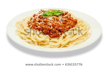 spaghetti on a plate stock photo © maknt