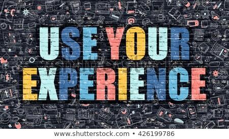 Use Your Experience Concept. Multicolor on Dark Brickwall. Stock photo © tashatuvango