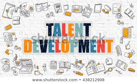 employé · motivation · blanche · doodle · style · icônes - photo stock © tashatuvango