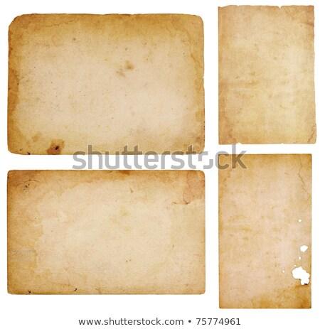 four vintage paper scraps stock photo © 3mc