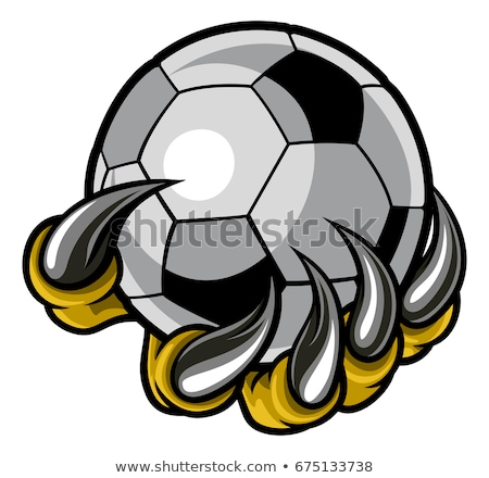 Foto stock: Claw Monster Hand Holding A Soccer Ball