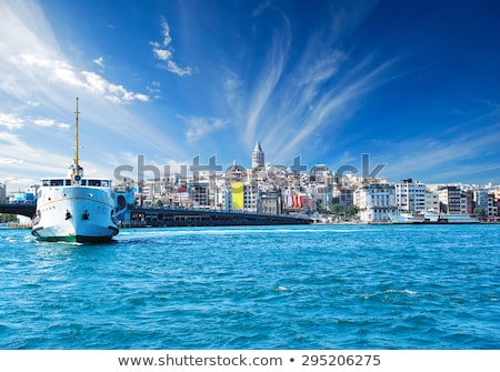 schepen · istanbul · zee · panoramisch · mooie - stockfoto © artjazz
