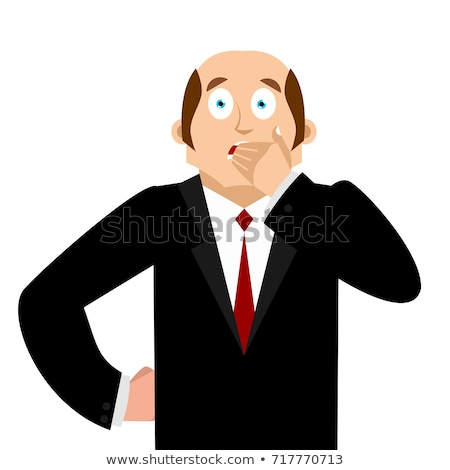 omg · schande · zakenman · pop · art · retro · cartoon - stockfoto © popaukropa